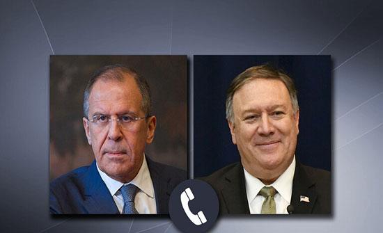لافروف يؤكد لبومبيو ضرورة امتناع واشنطن عن اتخاذ خطوات تقوض سيادة سوريا ووحدة أراضيها