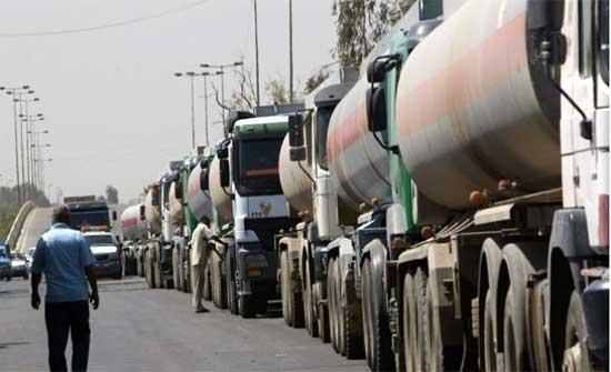 نقابة الشاحنات: عراقيل تواجه الناقلين بين الاردن والعراق