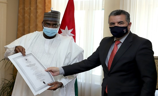 الخارجية تتسلم نسخة من اوراق اعتماد السفير النيجيري