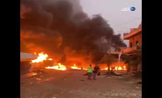 بالفيديو : قتلى مدنيون بانفجار سيارة مفخخة بعفرين شمال سوريا