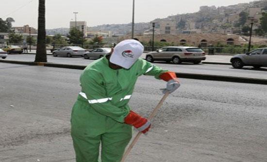 امانة عمان: عمال الوطن يعملون بشفتين لاستدامة نظافة المدينة