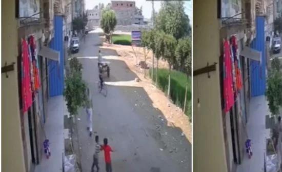 شاهد :  ردة فعل مصري وجد ابنه بالصدفة يتشاجر مع طفل آخر !