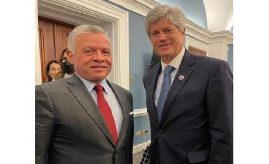 الجمهوري فورتينبري : ناقشنا مع الملك قضايا أمنية وأهمية المشاريع الزراعية