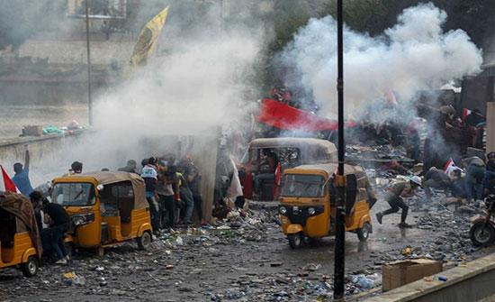 العفو الدولية تنتقد استخدام قنابل إيرانية فتاكة لقمع متظاهري العراق