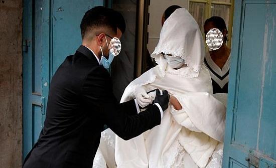 اصابة عروسين بفيروس كورونا في إربد