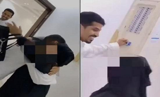 شاهد..في دولة عربية  : ردة فعل أم فاجأها ابنها بشراء فيلا