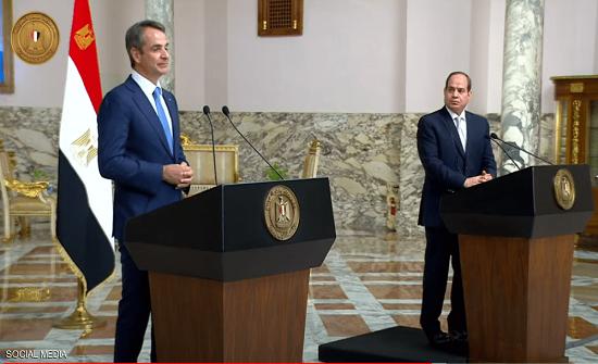 """توافق """"مصري - يوناني"""" على ضرورة خروج المرتزقة من ليبيا"""
