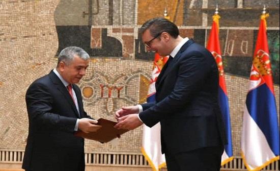 الرئيس الصربي يتسلم أوراق اعتماد السفير الأردني سويدات