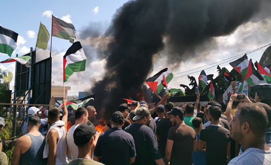 تحركات في المخيمات الفلسطينية رفضا لقرار وزير العمل اللبناني