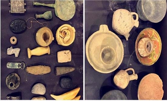 عمان :القبض على شخص بحوزته مجموعة من القطع الأثرية