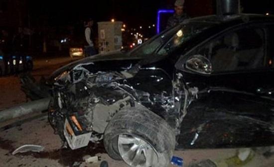 إصابة شخصين اثر حادث تدهور في اربد