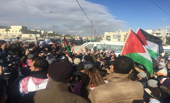 وقفة أمام السفارة الاسرائيلية بعمان