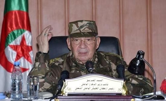 """قايد صالح: يهاجم رافضي انتخابات الجزائر ويصفهم بـ""""الشرذمة"""""""