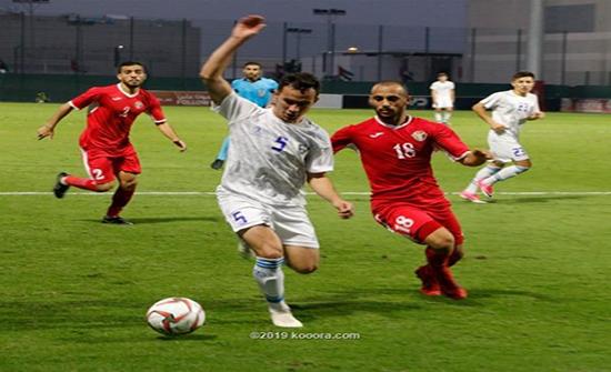 أولمبي الأردن يتعادل مع أوزبكستان ببطولة دبي