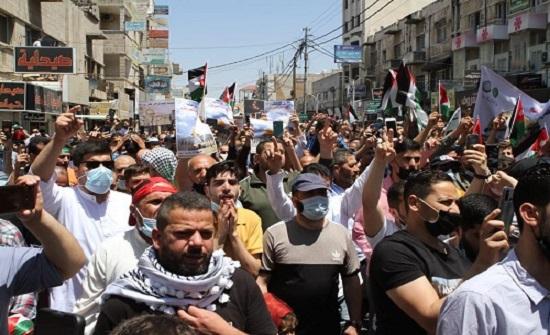 السلط: مسيرة تضامنية نصرة لأهلنا في فلسطين