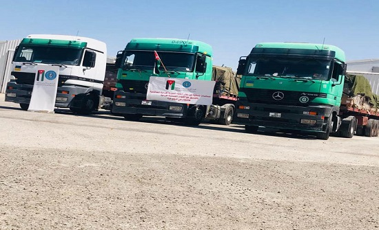 الهيئة الخيرية الأردنية الهاشمية تسير قافلة مساعدات الى فلسطين