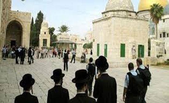 مستوطنون يقتحمون باحات الاقصى بحراسة شرطة الاحتلال الإسرائيلي