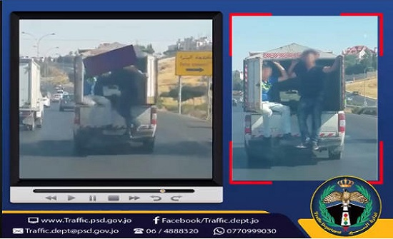 بالفيديو : ضبط مركبة عرضت حياة الركاب ومستخدمي الطريق للخطر