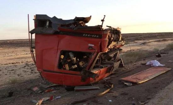 صور : 3 وفيات بحادث تصادم مروع في المفرق