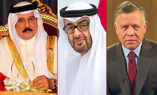 الملك والعاهل البحريني وولي عهد أبوظبي يعقدون قمة ثلاثية