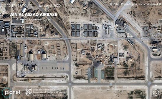 """لقطات من داخل قاعدة """"عين الاسد"""" بعد الضربة الايرانية ..فيديو"""