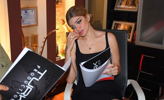 ياسمين الخطيب في أول يوم بروفات فيلمها الجديد