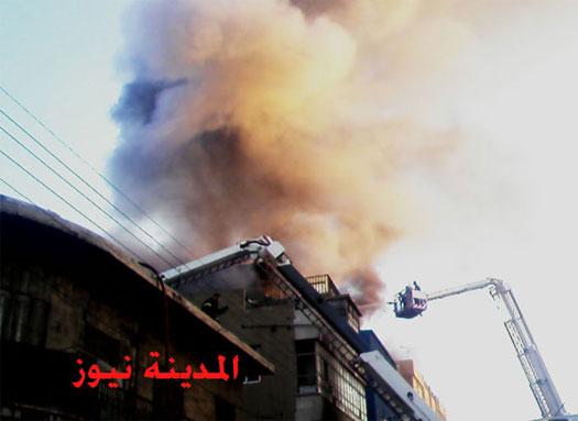 """حريق """"سوق البخارية"""" في وسط البلد بـ""""الفيديو والصور"""" .. وخسائر التجار ما بين 2-4 مليون دينار"""