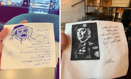 بالصور: سعودي يحول المناديل إلى لوحات فنية