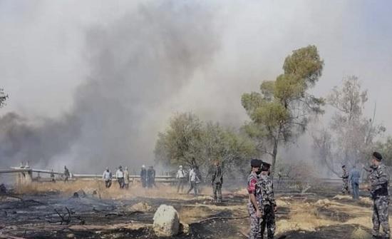 حريق في المصفاة الاردنية  - فيديو