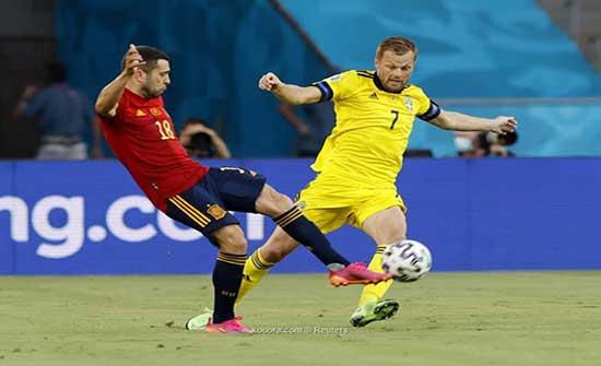 بالصور.. إسبانيا تستهل مشوارها في اليورو بتعادل مُحبط أمام السويد