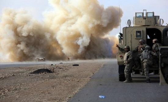 هجوم مسلح على رتل تابع للتحالف الدولي غربي العراق