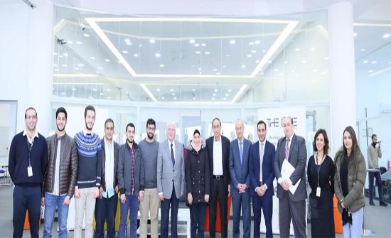 وزير التعليم العالي يزور جامعة الحسين التقنية