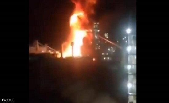اندلاع حريق عقب انفجار في مصنع للصلب بإيران