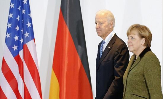 ميركل وبايدن يبحثان التواجد العسكري في أفغانستان و الاوضاع على حدود أوكرانيا