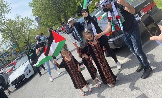 كندا: تظاهرات في مونتريال تطالب بتحرير فلسطين