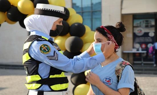 بالصور  : حملة توعية أمنية ومرورية في المدارس تزامناً مع بدء العام الدراسي