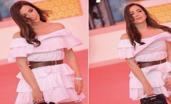 شاهد: فستان نسرين طافش يطير للمرة الثانية في الجونة