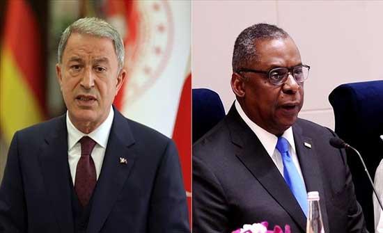 وزيرا دفاع تركيا والولايات المتحدة يبحثان قضايا الدفاع والأمن