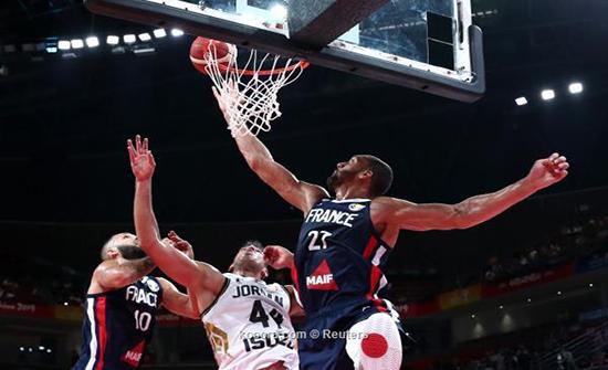 خسارة قاسية لمنتخبنا أمام فرنسا بمونديال السلة