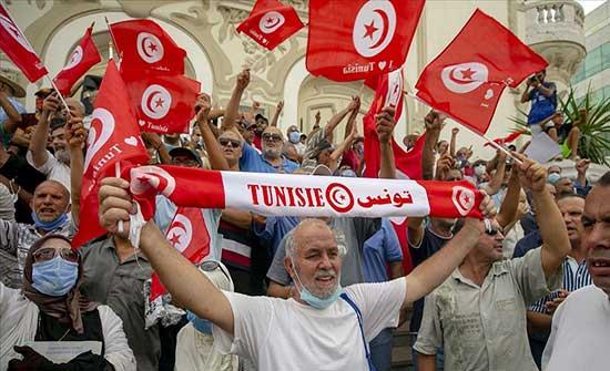 وقفة رافضة لقرارات سعيد في صفاقس التونسية
