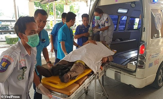 فيديو .. عصابة محكوم عليها بالإعدام يفرّون من محكمة تايلاندية