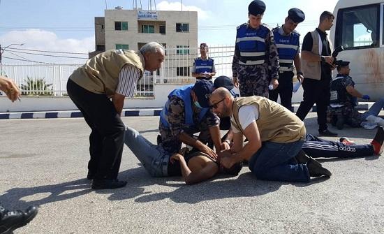 دفاع مدني إربد ينفذ تمريناً لحادث وهمي مفترض في اربد