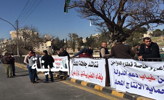 بالفيديو والصور : اعتصام المزارعين امام مجلس النواب