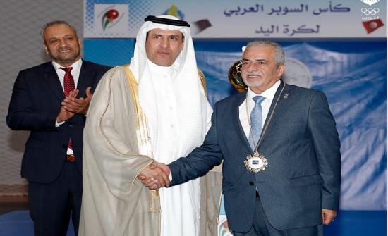رئيس الاتحاد العربي لكرة اليد يشيد باستضافة الأردن لبطولتي الأندية العربية للرجال والسيدات