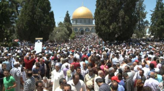 اجراءات صارمة للاحتلال  في القدس  أثرت على اعداد المصلين في الجمعة الثانية من رمضان