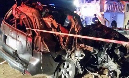 حادث مروري يقتل 6 أشخاص من عائلة واحدة في السعودية (صور)