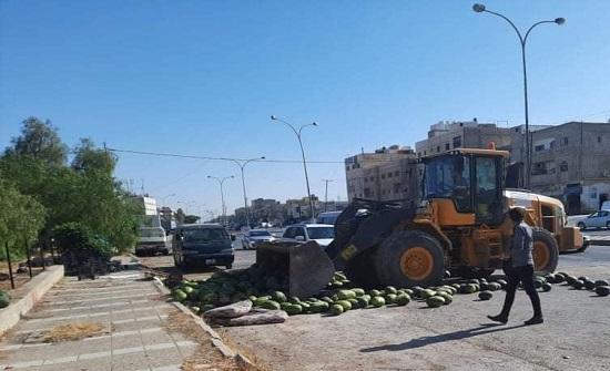 الأمانة تعتذر لصاحب بسطة البطيخ: لا نريد قطع رزق أحد