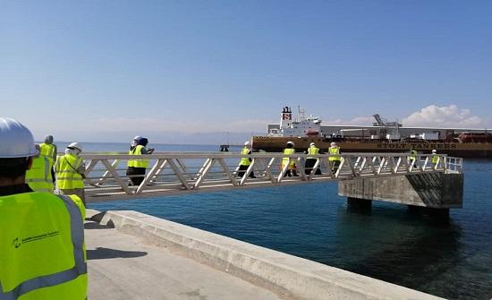 مهندسو العقبة يزورون مشروع ميناء العقبة الجديد