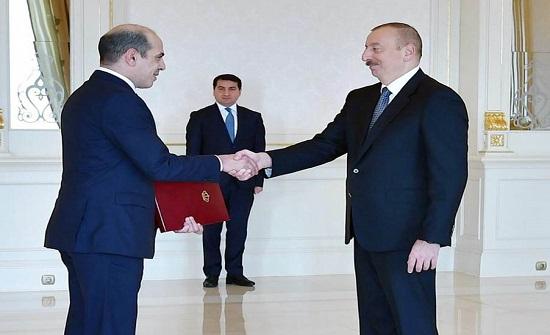الرئيس الاذربيجاني يتقبل اوراق اعتماد السفير غوشة