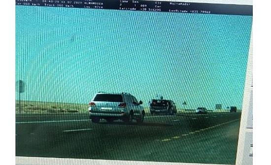 ضبط مركبة تسير بسرعة 156 كم  داخل تحويلة على الصحراوي